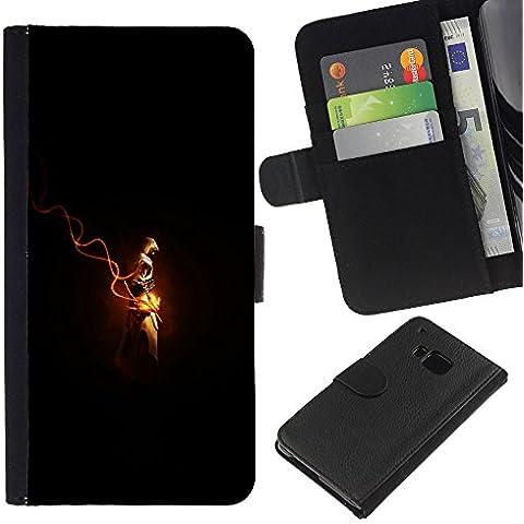 // PHONE CASE GIFT // Moda Estuche Funda de Cuero Billetera Tarjeta de crédito dinero bolsa Cubierta de proteccion Caso HTC One M7 / Assassins Cred /