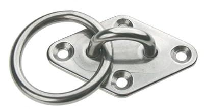 Augplatte mit Ring Edelstahl 80 x 50 mm ARBO-INOX