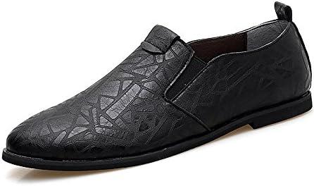 Zapatos Perezosos Acentuados del Estilo Británico para Hombre del Cuero Ocasional