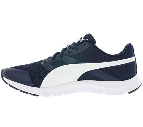 Puma Flexracer, Chaussures de Running Compétition Mixte Adulte Bleu (Peacoat/White)