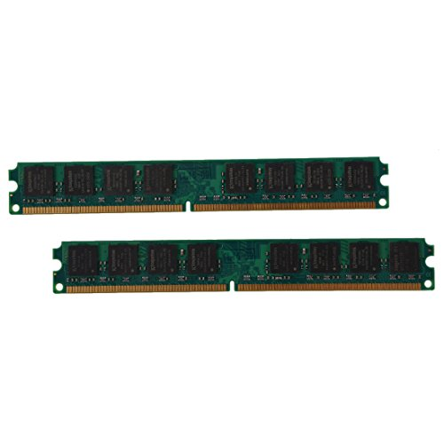 Memoria - SODIAL(R)2x 1GB DDR2 533 MHZ PC2 4200 240 PINS DIMM cuadernos memoria