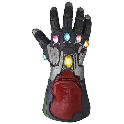 Hände Faust Handschuhe Thanos Unendlichkeit Gauntlet Jungen Männer LED Leuchten Spielzeug Latex Elektronische Cosplay Requisiten Kostüm Zubehör