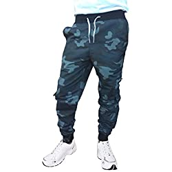 VERSATYL JOGGER - Men's Stylish and Casual Camouflage Jogger Slim Fit Cargo Pants with Zip Pockets For Sports Gym Athletic Training Workout (Size-32)
