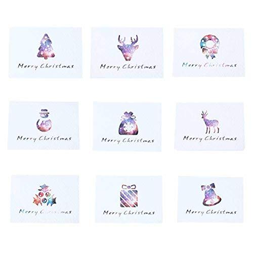 Noël carte de remerciement, 9/Lot Starry Série Mini Card, carte 8.5* 6cm Thanksgiving, B Aby (Douche, mariage, anniversaire anniversaire Fournitures