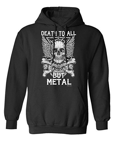 Death To All But METAL Music Scelta di con cappuccio o un maglione Uomo Donna Unisex