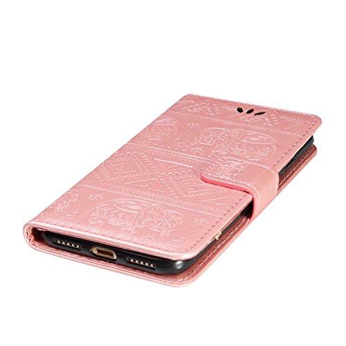 iPhone SE 5 5s Hülle [mit Frei Panzerglas Displayschutzfolie], BoxTii® iPhone SE / iPhone 5 / 5s Stoßdämpfende Schutzhülle mit Karte Halter & Handschlaufe, Bumper Handyhülle für Apple iPhone SE / iPho #1 Rose Gold