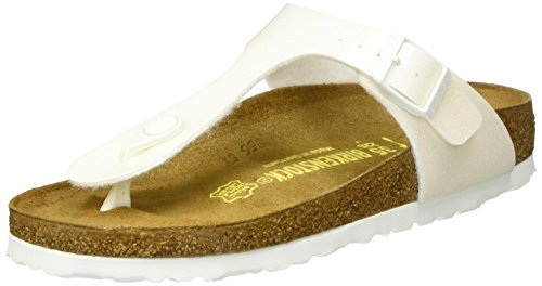 Birkenstock Kids Mädchen Gizeh Pantoletten, Weiß (Magic Galaxy White), 37 EU