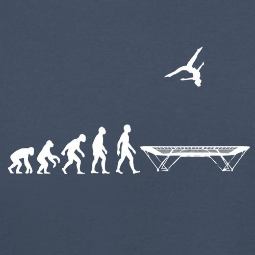 Evolution of Man - Trampolinspringen - Damen T-Shirt - 14 Farben Navy