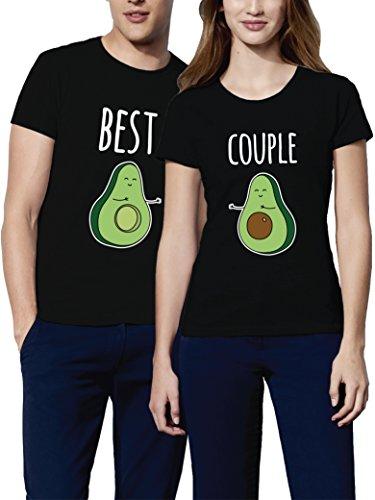 VIVAMAKE Pack 2 Camisetas para Mujer y Hombre Originales con Avocado Love