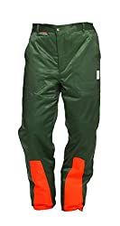 Schnittschutzhose Klasse 1, Forsthose WOODSafe®, kwf-geprüft, Bundhose grün/orange, Herren - Waldarbeiterhose mit Schnittschutz Form A, leichtes Gewicht (54)