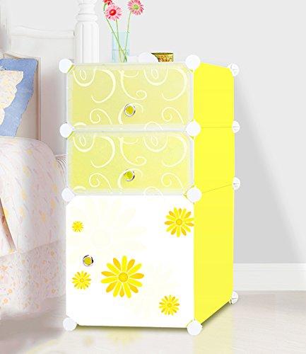 Flashing-DIY Armoires de rangement de petite armoire de mode avec portes, armoire de rangement moderne simple d'assemblage, armoire de mini-chevet en plastique simple de PVC de résine(37*37*71cm) ( Couleur : Vert , taille : 37*37*71cm )