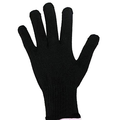 guanti per piastra capelli Sunsbell Calore professionale resistente del guanto dei capelli strumento di styling per il curling dritto piatto guanto di calore del ferro nero per il ferro arricciacapelli (1 pezzo)