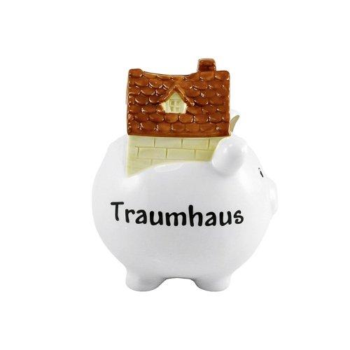 Goldbach (Dolomite Traumhaus glasiert Spardose, 14x 14x 19cm, weiß