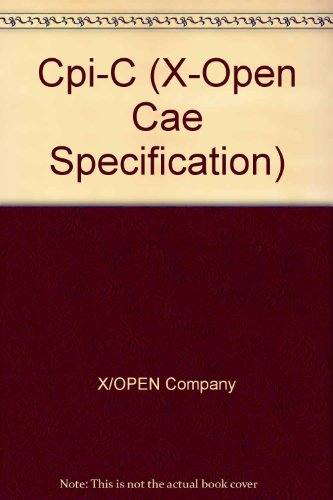 cpi-c-x-open-cae-specification