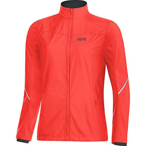 GORE WEAR Damen R3 Partial Windstopper Jacke, (Lumi Orange), 38 (Herstellergröße: M)