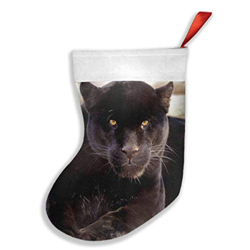 Rosa Schädel-knie-socken (QUEEKINWANG A Black Panther Art Print Xmas Christmas Stockings Xmas Party Mantel Decorations Ornaments for Decoration Kids Gift Holding Stocking Tree Ornament)