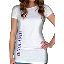 Ladies England Football 2014 T Shirt in Black and White By Certified Insane