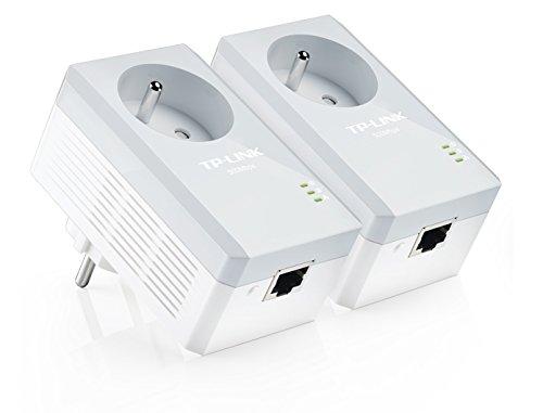 TP-Link CPL AV500 (Débit 500 Mbps), 1 Port Fast Ethernet, Prise Intégrée Version Française, Pack de 2 CPL (TL-PA4015P KIT)