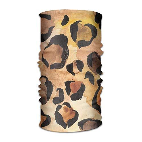 jiilwkie Watercolor Cheetah Skin Fashionable Outdoor Hundred Change Headscarf Original Multifunctional Headwear