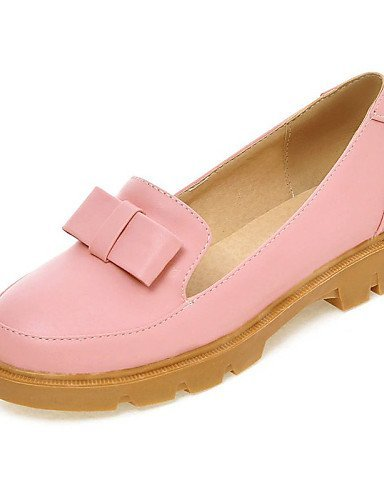 ShangYi gyht Scarpe Donna - Mocassini - Ufficio e lavoro / Formale / Casual - Punta arrotondata - Basso - Finta pelle - Blu / Rosa / Beige Pink