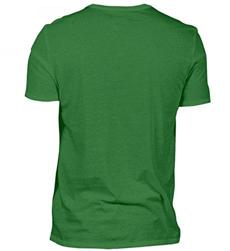 Shirtee Hochwertiges Herren Shirt - ein Stier Wird 30 Kelly Green