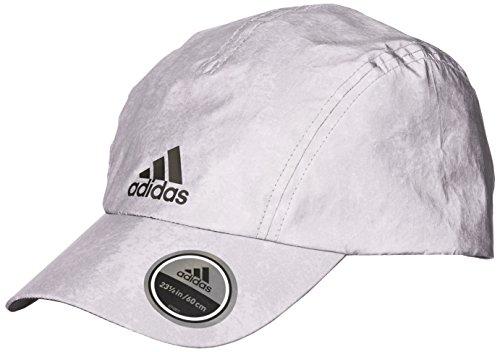 adidas R96 REF Cap Hat, Reflective Silver/Black, One Size