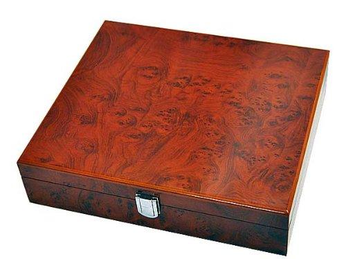 Orig. Meyer & Söhne Uhrenbox Uhrenkoffer für 10 Uhren 8-fach lackiert -