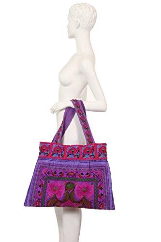 FORAL DESIGN HMONG BORSA_ Multicolore (viola)