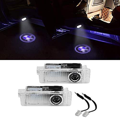 LITTOU Autotür LED Logo Projektion Licht Türbeleuchtung Lampe Willkommens Kompatibel für 3 5 6 7 series (2pcs)