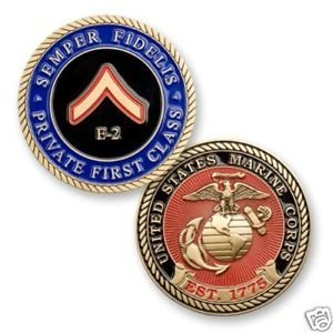 Marine Corps E2 Private First Class Coin by Coins For Anything Inc
