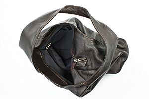 Belli - Bolso al hombro de cuero para mujer marrón marrón de Belli®