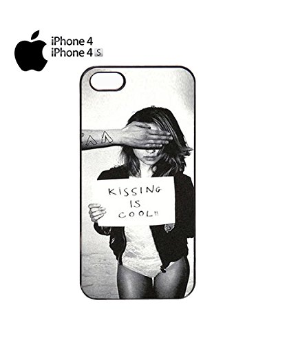 Kissing is Cool Sexy Girl Women Bad Tumblr New Design Mobile Phone Case Cover iPhone 6 Plus + Black Noir