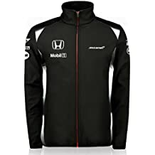 McLaren Honda Team Softshell, fórmula 1, F1, tm2116 Negro negro Talla:small