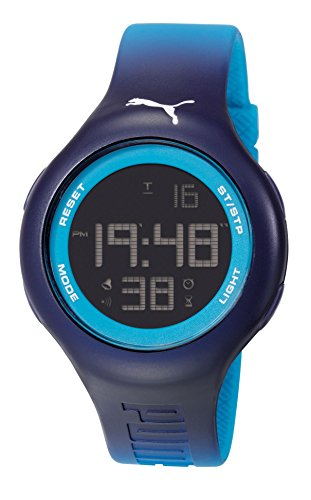 Bucle Unisex Puma L Digital pantalla Digital reloj infantil con mecanismo de Coronado controls y azul correa de PU PU910801030