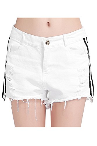 Women Summer Casual Ripped Denim Shorts Hot Jeans Plus Size