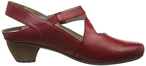 Rieker - 41779, Scarpe col tacco con cinturino a T Donna Rosso (Rosso/rosso / 33)