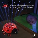 ANSMANN LED Sternenhimmel Projektor Marienkäfer – Einschlafhilfe mit Farbspiel – Nachtlicht mit Sensor Touch als Kinderlampe Kinderlicht Nachttischlampe Nachtlampe für Baby & Kind im Kinderzimmer - 4