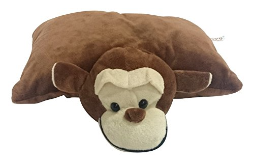 Soft Buddies Soft Buddies Folding Monkey, Brown