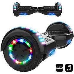 "MARKBOARD Elektro Scooter Hoverboard LED 6,5"" E-Balance E-Skateboard Elektroroller 700W Motor Bluetooth (Schwarz)"