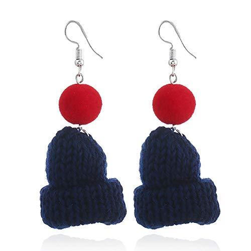 BIGBOBA Damen Ohrringe kreative Hutform Ohrringe Anhänger Legierung Ohrring Schmuck Geschenk, Cyan -