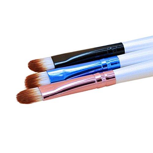 Dégagement!!!,❤️ ♬♬ ❤️ LMMVP Brosses Cosmétiques Pro Makeup Outil de Brosse de Contour de Poudre de Fard à Paupières (13cm, Blanc)