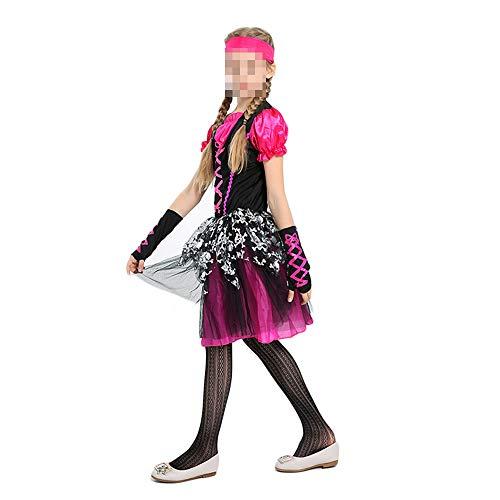 kMOoz Halloween Kostüm,Outfit Für Halloween Fasching Karneval Halloween Cosplay Horror Kostüm,Halloween Kindertag Kostüme Mädchen Piraten Cosplay Set