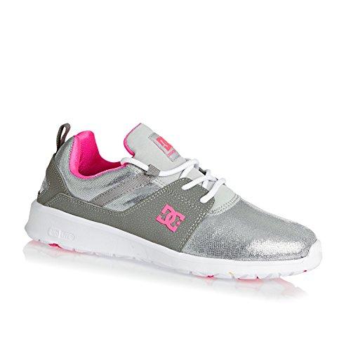 DC Shoes Heathrow Se J, Baskets Basses femme silver