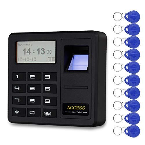 trollsystem Fingerabdruck-RFID-Tastaturcontroller RFID-Tastatur 125 KHz EM Biometrische Identifikation mit 10 Schlüsseln ()