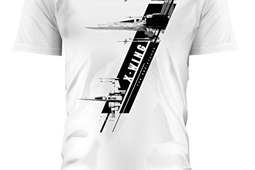 SD toys - T-Shirt - Star Wars Episode 7- Homme X-Wing Blanc Taille XL - 8436546898788