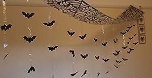 Décoration Halloween 3m Attaque De Chauve-Souris À Suspendre Au Plafond - 3m x 30cm