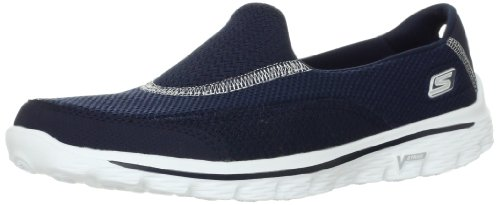 Skechers GO Walk 2, Damen Sneakers, Blau (NVY), 38 EU (Skechers Running Sneakers)