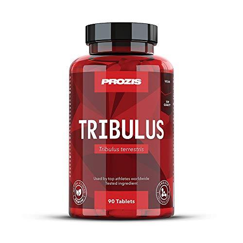 Prozis 100% Pure Testosterone Booster Supplement Tribulus Terrestris 1000 mg: Fuente natural de energía. Potencia el desarrollo muscular y el desempeño sexual. ¡90 comprimidos!