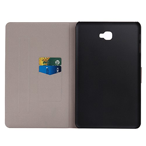 Galaxy Tab A 10.1 Custodia,SainCat Custodia in Pelle per Samsung Galaxy Tab A 10.1,Anti-Scratch Protettiva Caso Elegante Creativa Dipinto Pattern Design PU Leather Flip Ultra Slim Sottile Morbida Port gufo del fumetto