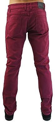 Kayden K Men's Twill Skinny Jeans Sangria Red-36x30